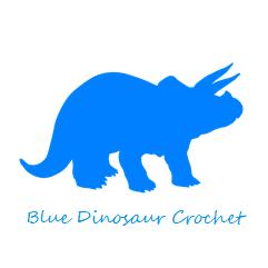 Blue Dinosaur Crochet